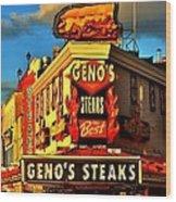 Geno's Wood Print