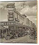 Geno's With Cycles Wood Print