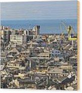 Genova. Panoramic View Wood Print
