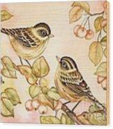 Gentle Couple Wood Print