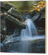 Gentle Little Falls Wood Print