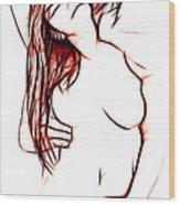 Gentle Lover Wood Print by Steve K
