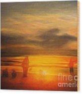 Gentle Sunset Vision Wood Print