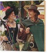 Gentleman And His Lady Wood Print