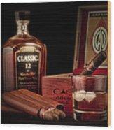 Gentlemen's Club Still Life Wood Print by Tom Mc Nemar
