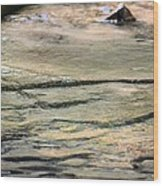 Gently Gliding Water Abstract Wood Print