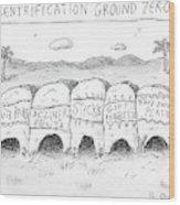 Gentrification: Ground Zero A Row Of Cavelike Wood Print