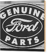 Genuine Ford Parts Sign Wood Print