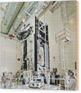 Geo-1 Satellite In Lab Wood Print