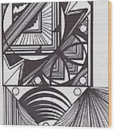 Geo Doodle Wood Print