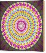 Geo Master Eleven Kaleidoscope Wood Print by Derek Gedney