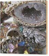Geode To Beads Wood Print by Jaime Neo