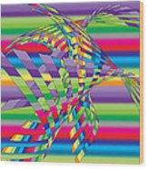 Geometric 3 Wood Print by Mark Ashkenazi