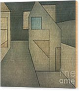 Geometric Abstraction II Wood Print