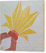 Geometric Blooming Lotus Wood Print
