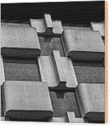 Geometric Building Wood Print