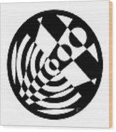 Geometric Circle 5 Wood Print