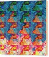 Geometric Cloud Cover Wood Print