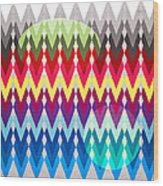 Geometric Colors  Wood Print