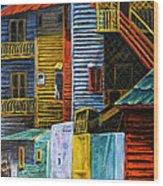 Geometric Colours I Wood Print by Xueling Zou