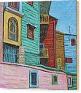 Geometric Colours II Wood Print