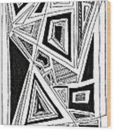 Geometric Doodle 2 Wood Print by Sarah Loft