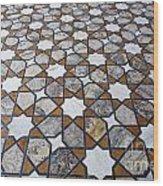 Geometric Marble Floor Design At Lahore Fort Wood Print