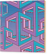 Geometric  Wood Print by Mark Ashkenazi