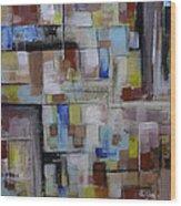 Geometric Modern Painting Original On Canvas Wood Print