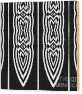 Pattern Geometric Black White Art No.337. Wood Print by Drinka Mercep