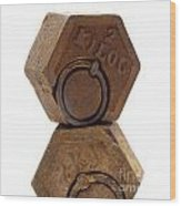 Geometric Shape Wood Print by Bernard Jaubert