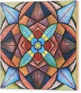 Geometric Symmetry Wood Print