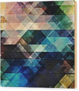 Geometric Textural Colorations Wood Print
