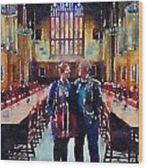 George And Chrissy At Hogwarts Wood Print