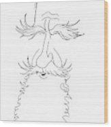 George Bernard Shaw Caricature Wood Print