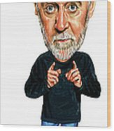 George Carlin Wood Print by Art