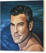 George Clooney 2 Wood Print