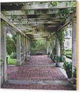 George Eastman Home Pergola Rochester Ny  Wood Print