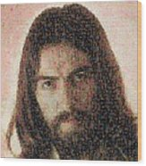 George Harrison Mosaic Image 1 Wood Print