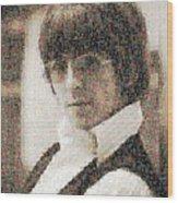 George Harrison Mosaic Image 2 Wood Print