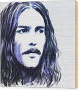George Harrison Portrait Wood Print by Wu Wei