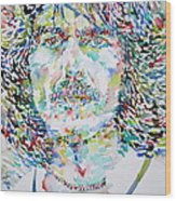 George Harrison Portrait.2 Wood Print