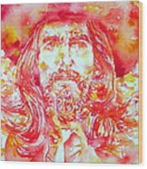 George Harrison With Hat Wood Print