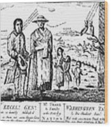 George IIi Cartoon, 1779 Wood Print