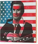 George Jones American Country Wood Print