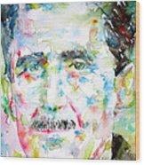 George Orwell Wood Print