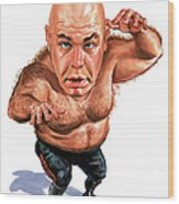 George The Animal Steele Wood Print by Art