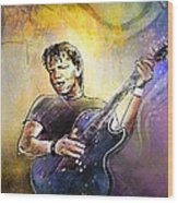George Thorogood In Cazorla In Spain 02 Wood Print