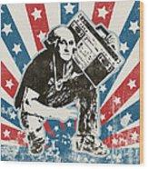 George Washington - Boombox Wood Print