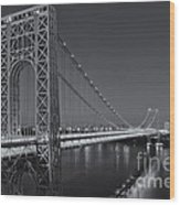 George Washington Bridge Twilight II Wood Print